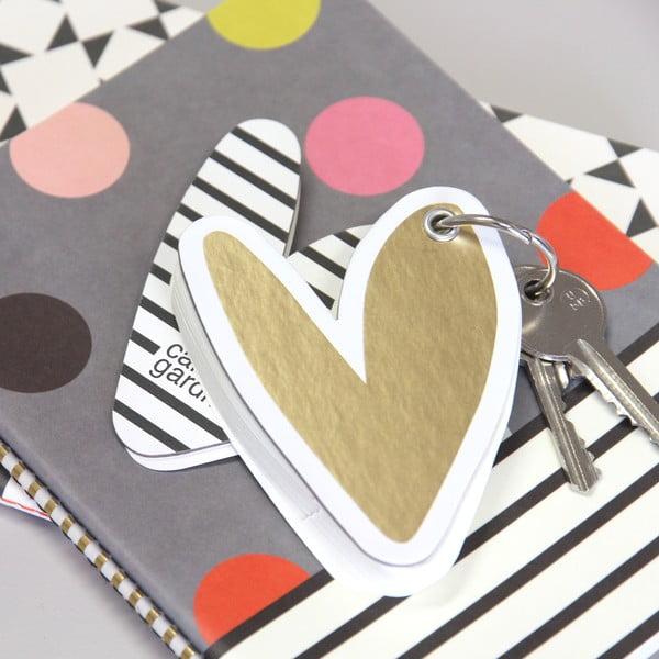 Mini zápisník na kľúče Hearts