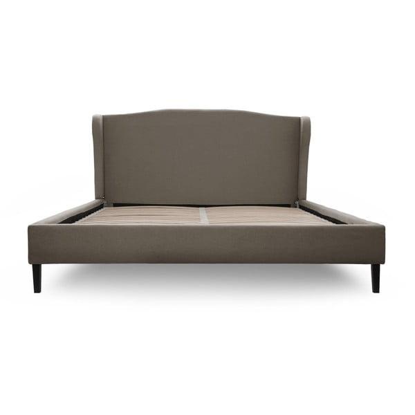 Sivá posteľ VIVONITA Windsor 180x200cm, čierne nohy