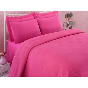 Prikrývka na posteľ Dama Fuchsia, 160x230 cm