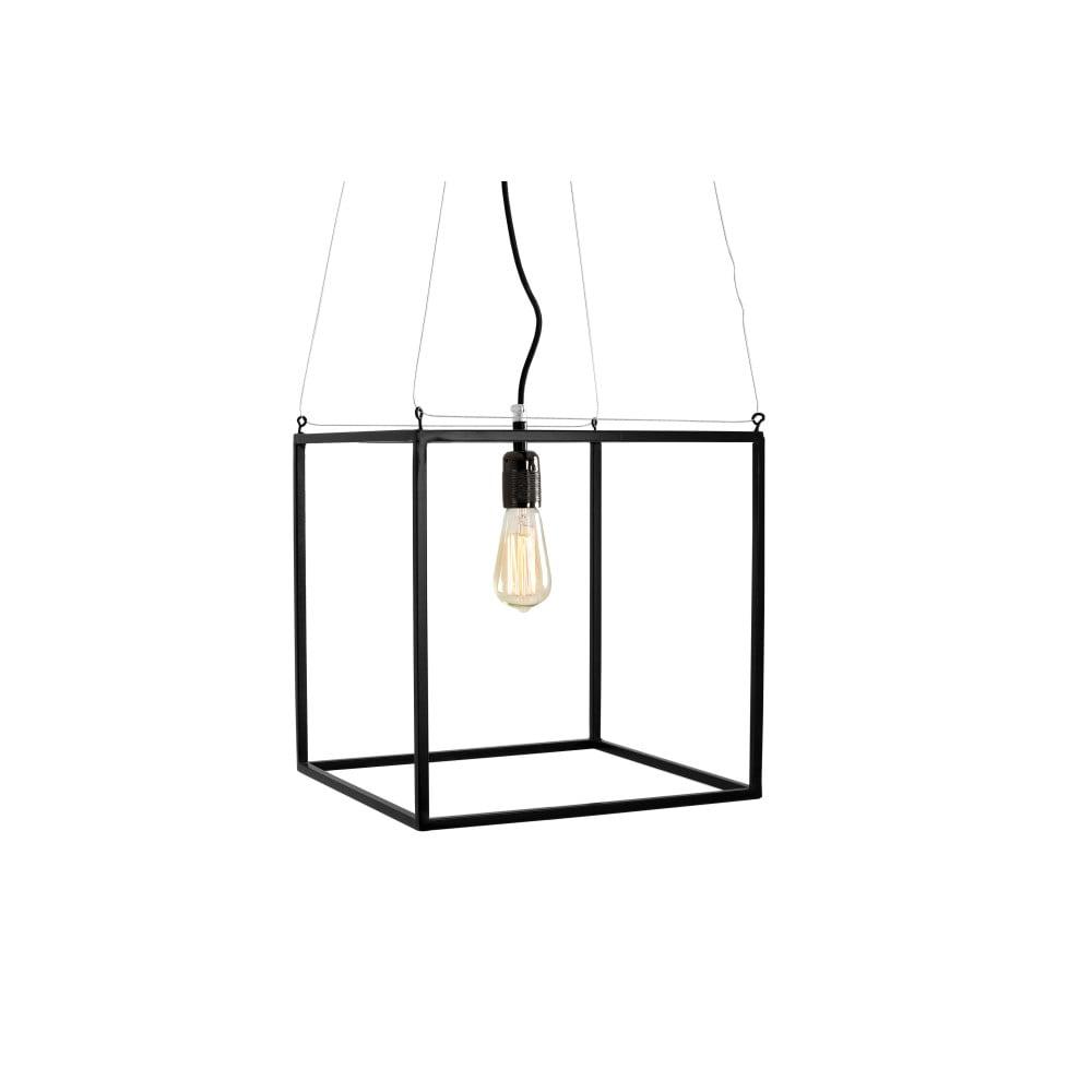 Čierne závesné svietidlo Custom Form Metric