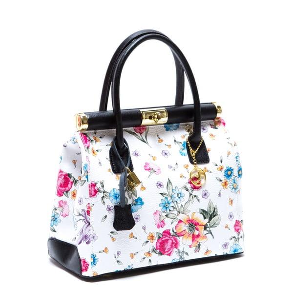 Kožená kabelka Carla Ferreri 901, kvetovaná