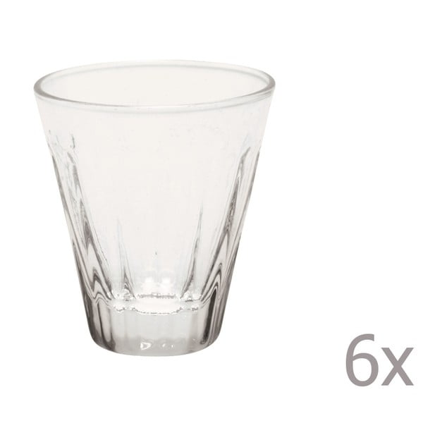 Sada 6 pohárikov na likér Lucca Transparent, 50 ml
