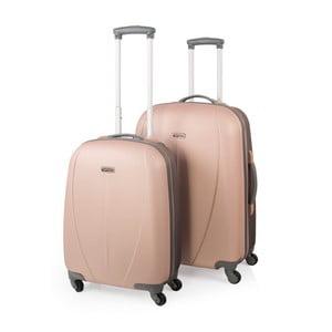 Sada 2 béžových cestovných kufrov nakolieskach Arsamar Wright