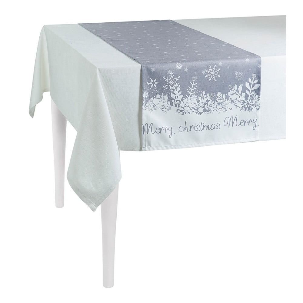 Sivý vianočný behúň na stôl Apolena Honey Christmas, 40 × 140 cm