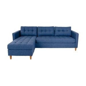 Modrá variabilná rohová pohovka House Nordic Marino, ľavý roh