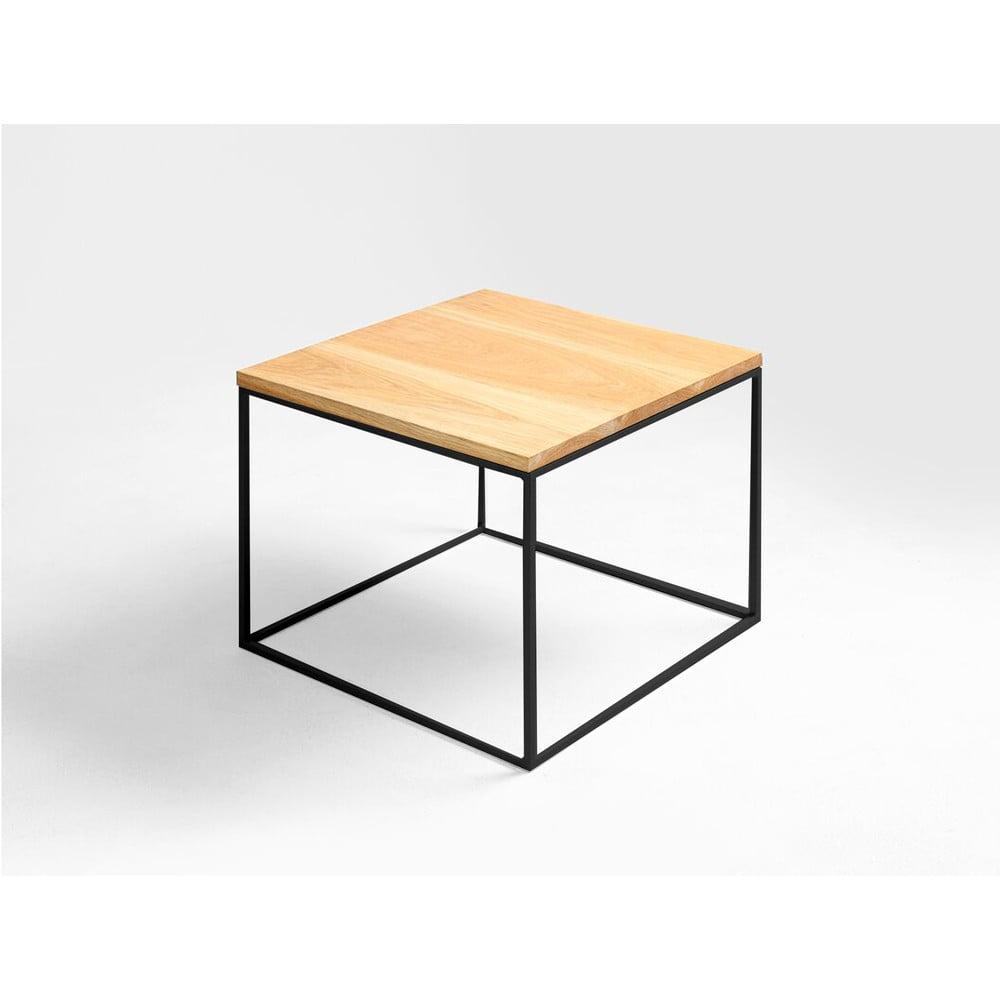 Odkladací stolík s čiernou konštrukciou Custom Form Tensio, 50 x 50 cm