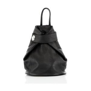 Čierny kožený batoh Glorious Black Stella