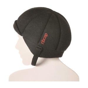 Antracitová čapica s ochrannými prvkami Ribcap Jackson, veľ. L