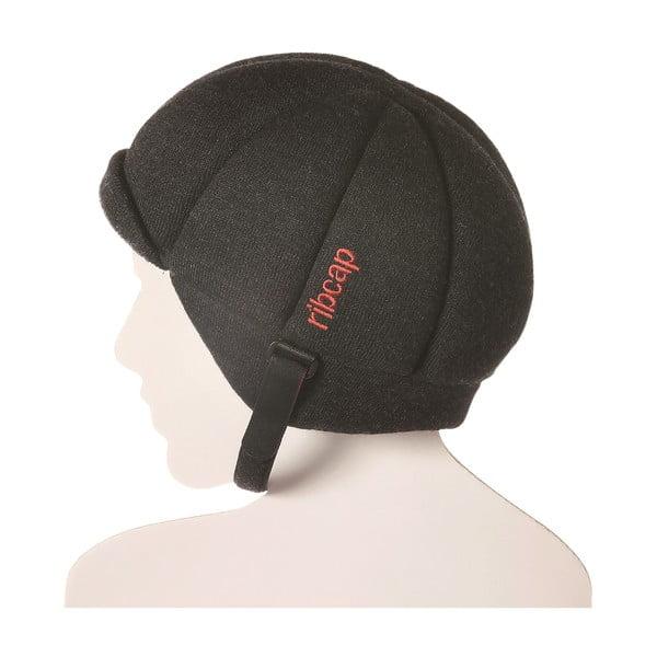 Antracitová čapica s ochrannými prvkami Ribcap Jackson, veľ. S