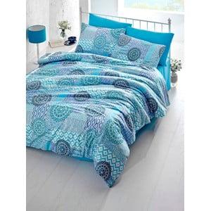 Sada obliečok a plachty Sheyla Blue, 200x220 cm