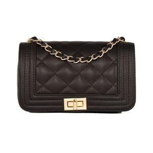Čierna kabelka z pravej kože Andrea Cardone Elena