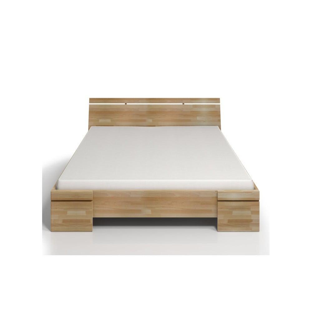 Dvojlôžková posteľ z bukového dreva Skandica Sparta Maxi, 140 × 200 cm
