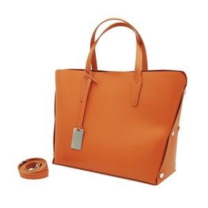 Oranžová kabelka z pravej kože Andrea Cardone Dettalgio