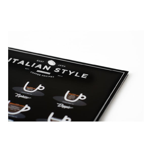 Plagát Follygraph Italian Style Coffee Black 50 × 70 cm