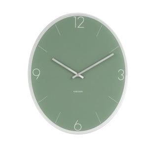 Zelené nástenné hodiny ETH Elliptical