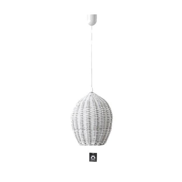 Stropné svetlo Egg, 28 cm, biele