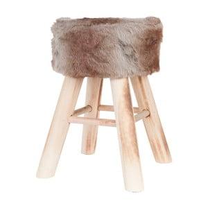 Hnedá stolička Clayre & Eef Fur