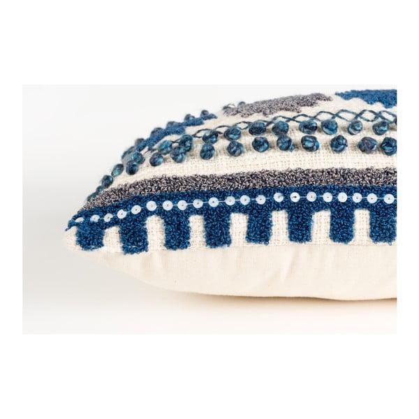 Modrý vankúš s výplňou Zuiver Sala, 65×30 cm