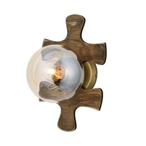 Drevené nástenné svietidlo Avoni Lighting Puzzle