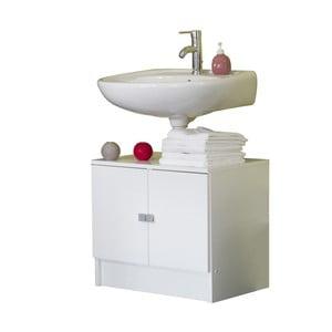 Biela kúpeľňová skrinka pod umývadlo Symbiosis André