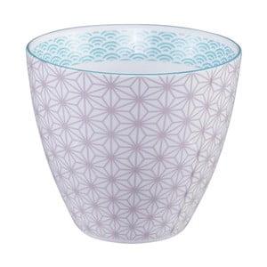 Fialovo-biely hrnček na čaj Tokyo Design Studio Star/Wave, 350 ml