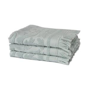 Sada 3 zelených uterákov z organickej bavlny Seahorse, 60x110cm