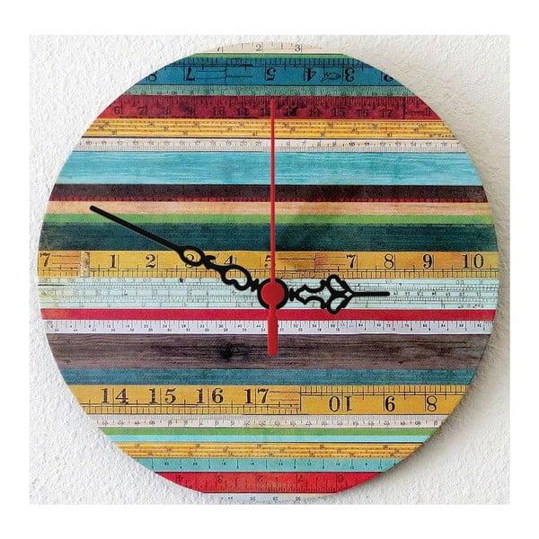 Nástenné hodiny Wooden Stripes, 30 cm