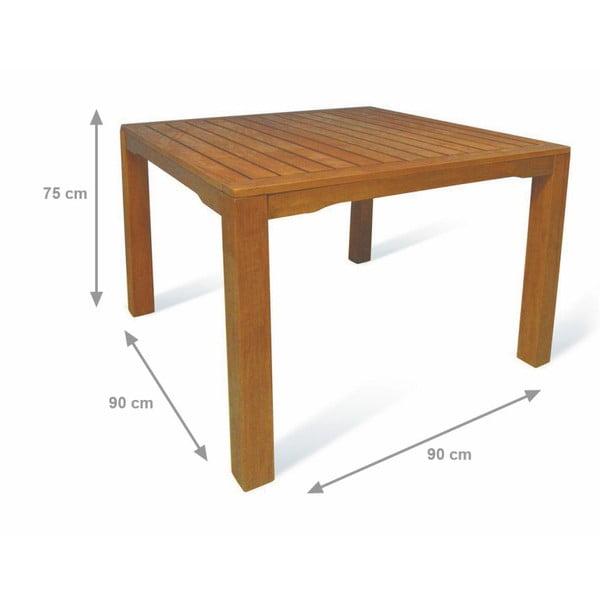 Vonkajší stôl z eukalyptového dreva Crido Consulting Lemur