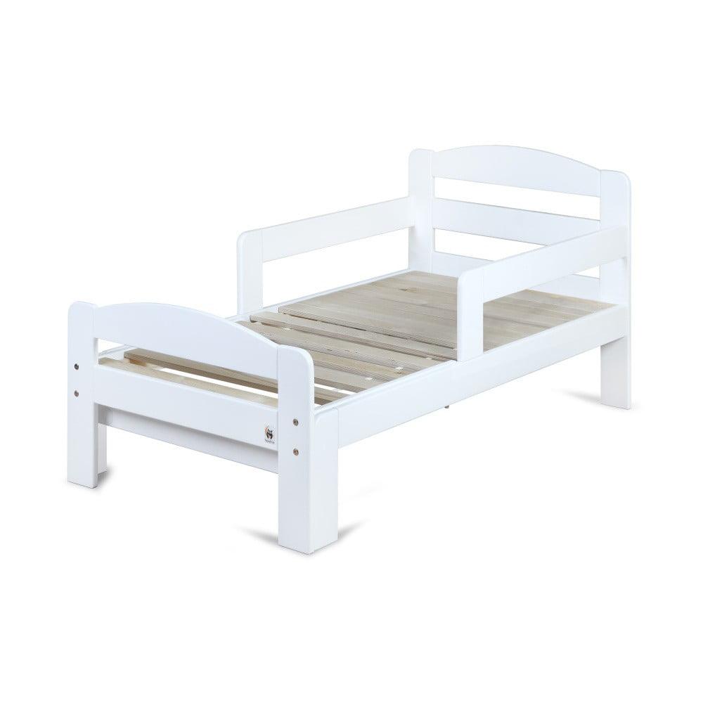 Biela rastúca detská posteľ YappyKids Grow, 140-190 × 70 cm
