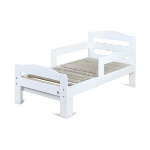Biela rastúca detská posteľ YappyKids Grow, 140-190×70 cm