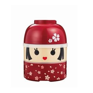 Detský desiatový box Kokeshi Red, 850 ml