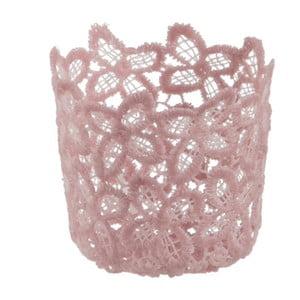 Sklenený svietnik Crochet