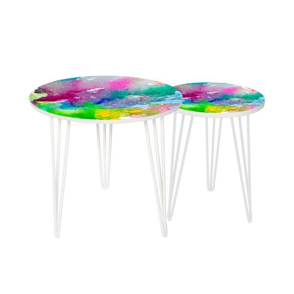 Sada 2 odkladacích stolíkov Water Colour, 35 cm + 49 cm