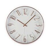 Biele hodiny Versa White & Copper, 30 cm