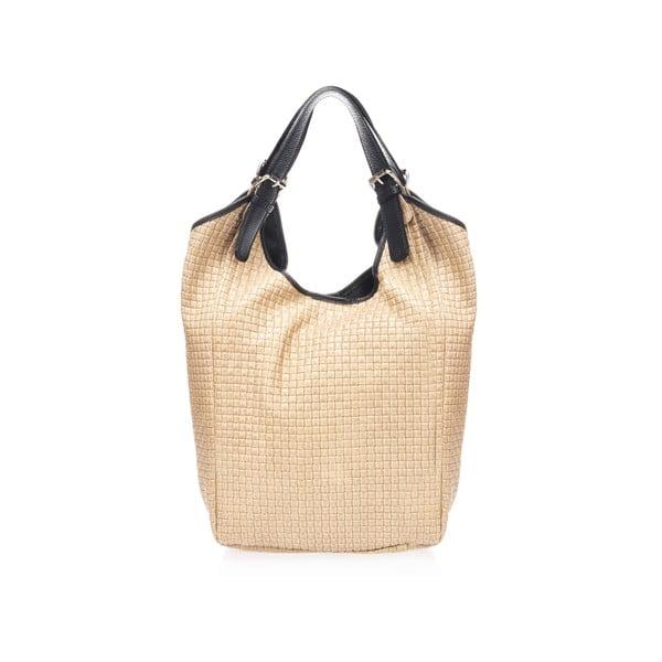 Béžová kožená kabelka Giulia Massari Cuini