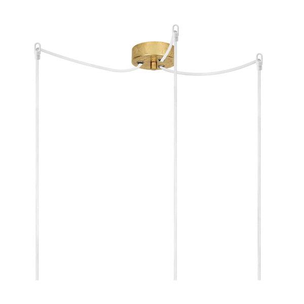 Trojitý závesný kábel Uno, zlatá/biela/zlatá