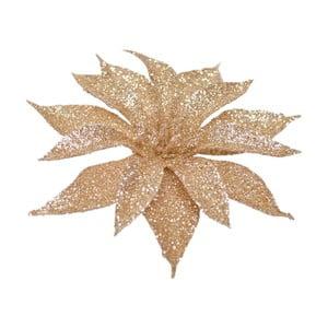 Sada 3 dekoratívnych umelých kvetín v béžovozlatom odtieni Ewax