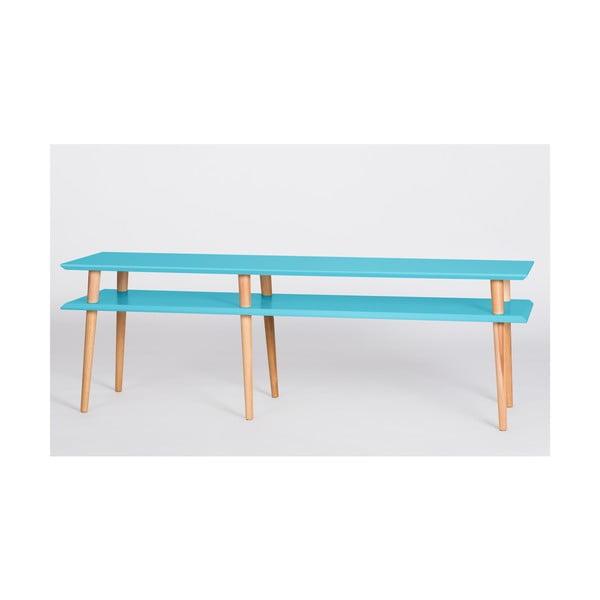 Tmavotyrkysový konferenčný stolík Ragaba Mugo,dĺžka 159cm