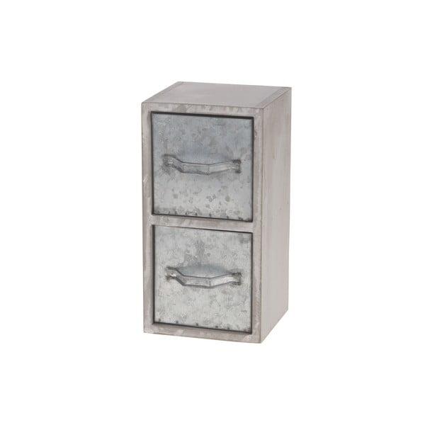 Drevená skrinka s kovovými zásuvkami  Dijk Natural Collections Oliver