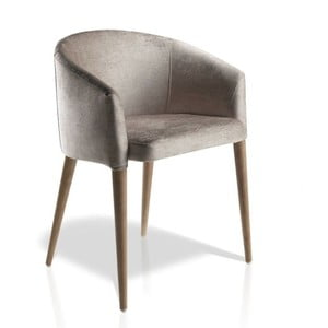 Jedálenská stolička s podnožím z orechového dreva Ángel Cerdá Josefina