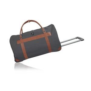 Sivá cestovná taška na kolieskách GENTLEMAN FARMER Norway, 63 l
