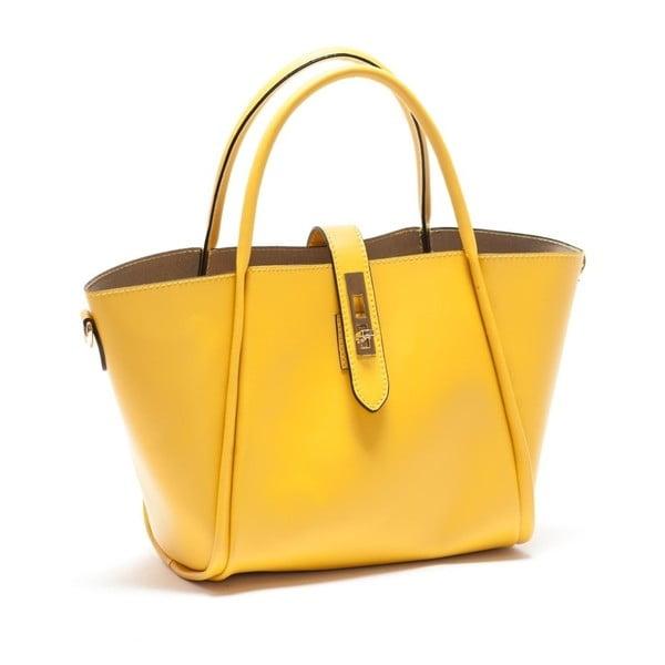 Žltá kožená kabelka Mangotti Walleriana