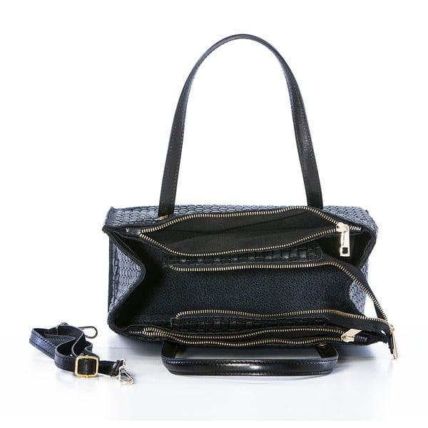 Kožená kabelka Suede Braid Black