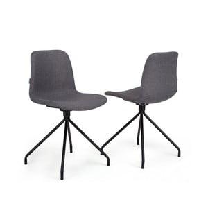 Sada 2 tmavosivých stoličiek Garageeight Forett X