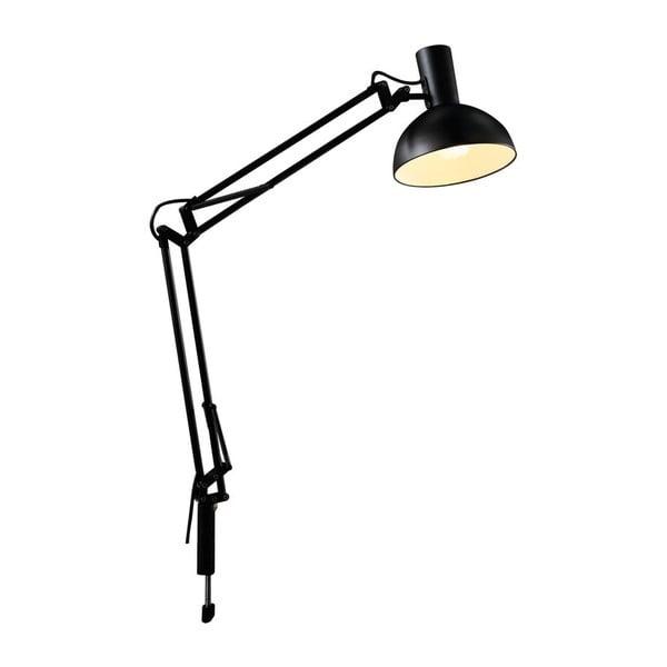 Lampa Arki so svorkovým, nástenným a stolným uchytením, čierna