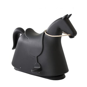 Čierna detská stolička v tvare koňa Magis Rocky, výška 71,5 cm