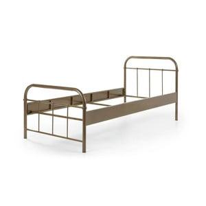 Hnedá kovová detská posteľ Vipack Boston, 90×200 cm