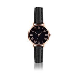 Dámske hodinky s čiernym remienkom z pravej kože Emily Westwood Night