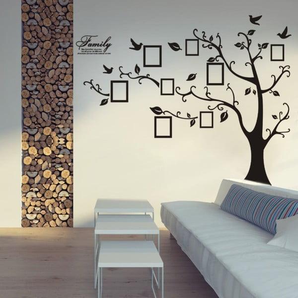 Dekoratívna samolepka Strom s fotorámčekmi, pravá strana 150x205 cm
