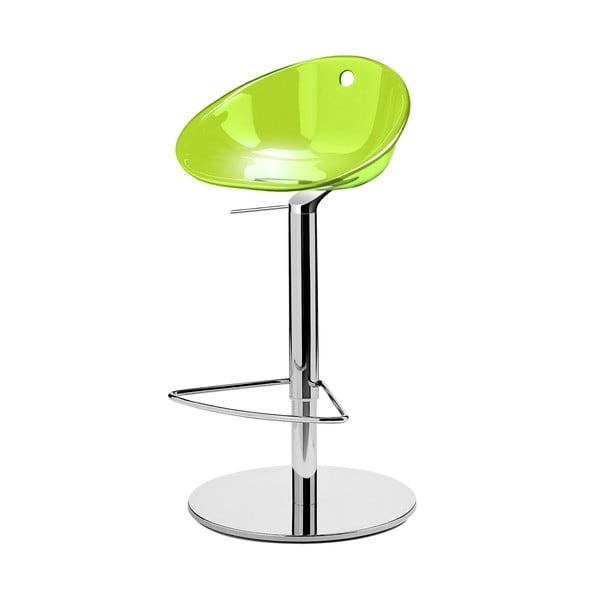 Zelená barová stolička Pedrali Gliss
